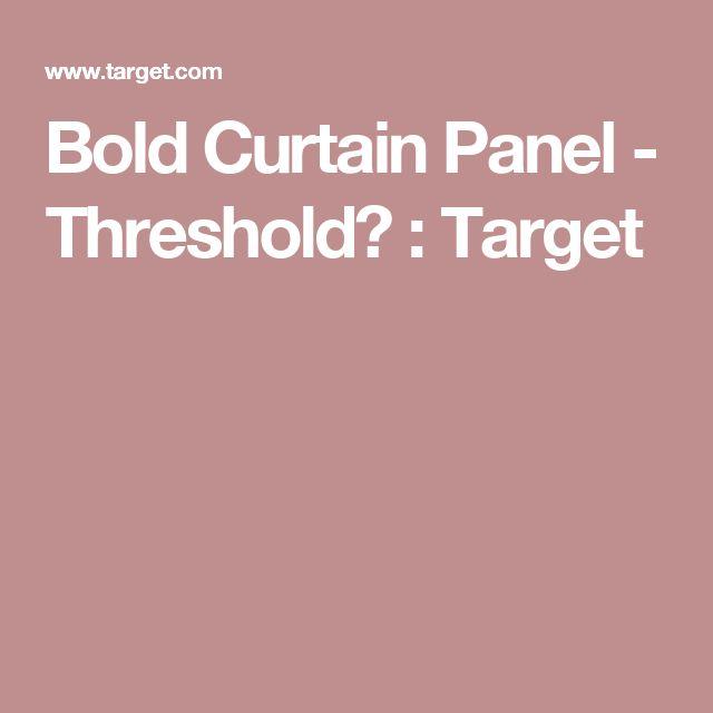 Bold  Curtain Panel - Threshold™ : Target