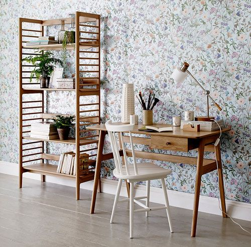 Retro office: Ercol for Marks and Spencer midcentury-style desk and bookcase – Retro to Go