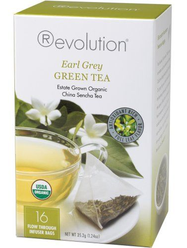 Revolution Tea, Green Earl Grey (Certified Organic), 16 Flow-through Infuser Bags in a Stay-Fresh Container - http://mygourmetgifts.com/revolution-tea-green-earl-grey-certified-organic-16-flow-through-infuser-bags-in-a-stay-fresh-container/