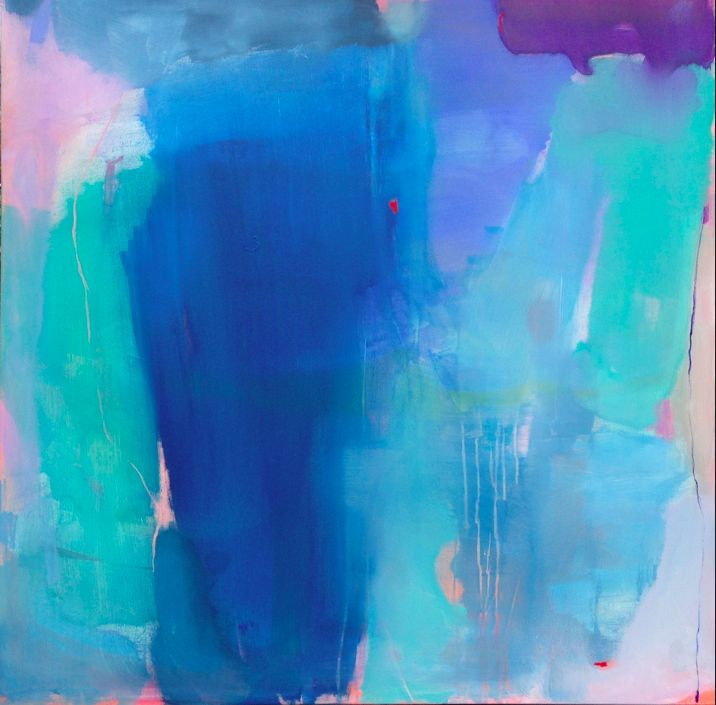 blue foot 40 x 40 canvas