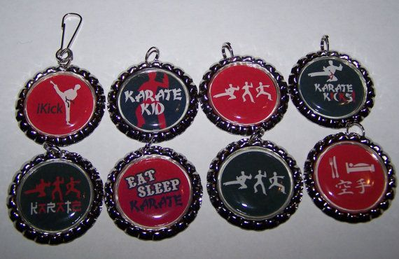 Boys Karate Party Favors / Karate Bottle Cap by PARTYCAPZNBOWS, $16.00
