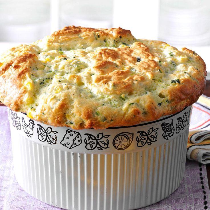 Zucchini & Sweet Corn Souffle Recipe -As novice gardeners, my husband and I sowed zucchini seeds – 15 hills' worth! Happily, my family…