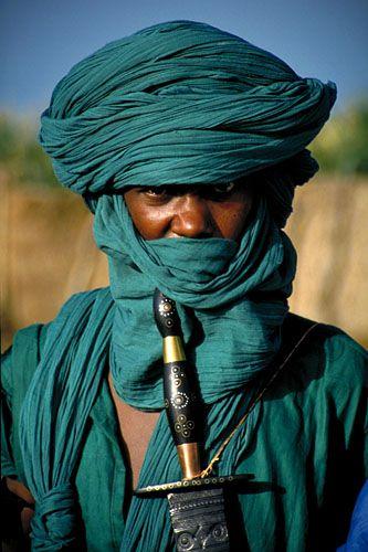 Africa    People.  A Tuareg man in Timbuktu - Mali.