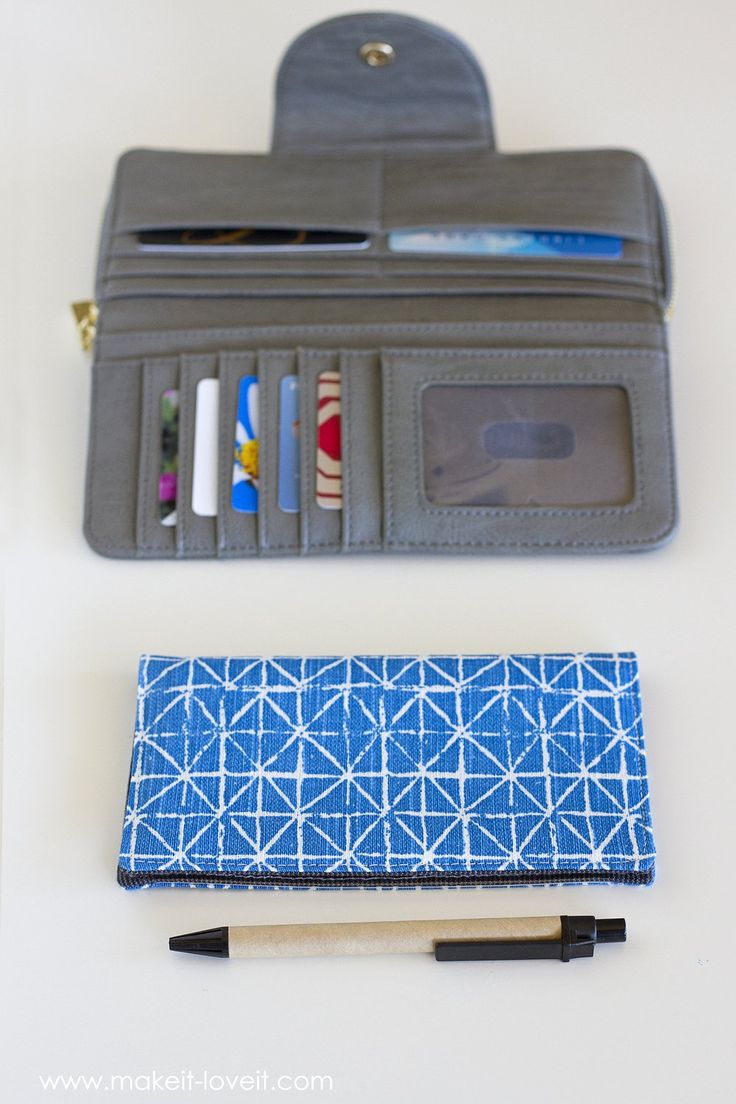 Fabric Checkbook Cover (with duplicate check divider)...get rid of your old cracked plastic cover and replace it with this fun fabric cover!