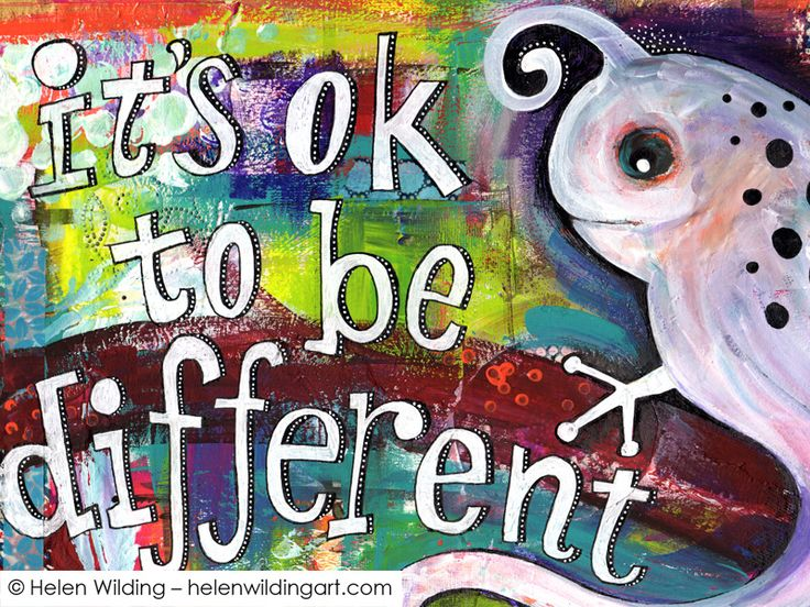 """It's okay to be different - or """"how a bird turned into a chameleon"""" - Helen Wilding Art"""
