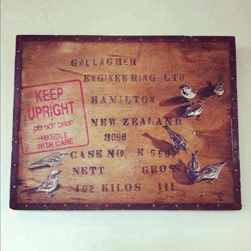 Artwork by Andi Merkens. Calliope Road Café. Auckland.