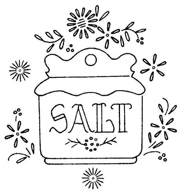 old fashioned salt cellar - salt box - embroidery pattern  sc 1 st  Pinterest & 21 best Salt Cellars images on Pinterest | Salt shakers Salt ...