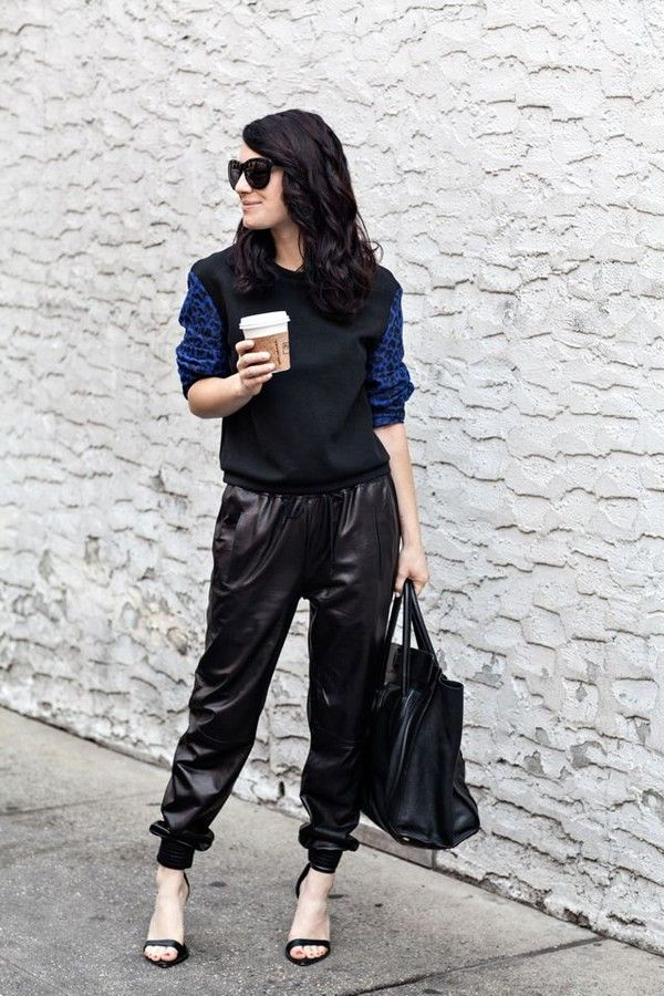 Vince Leather Jogging Pants SHOPBOP