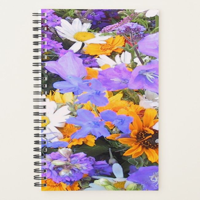 Flowers Pretty Colorful Flower Garden Planner Zazzle Com With