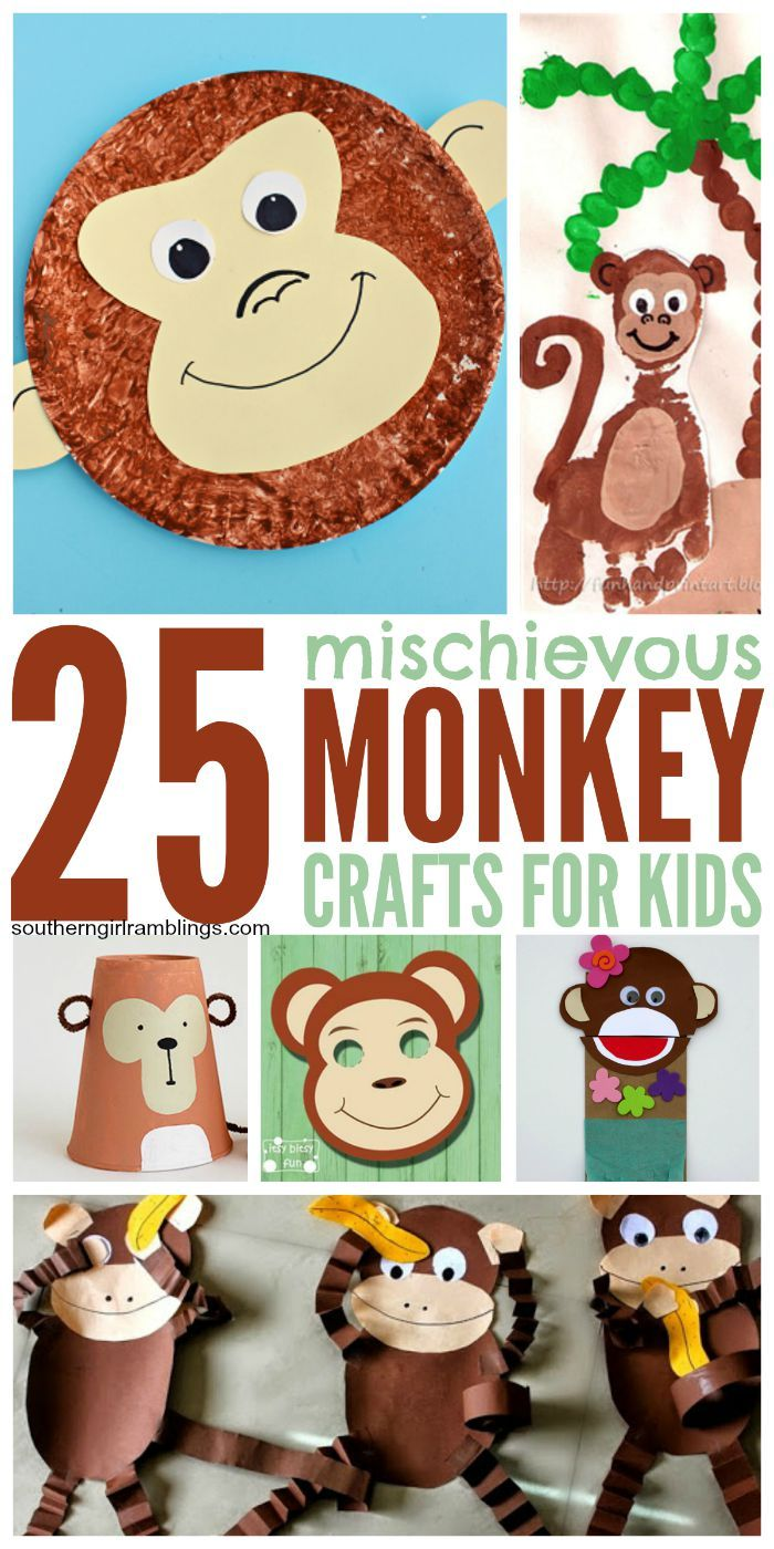 25 Monkey Crafts For Kids All About The Kiddos Pinterest