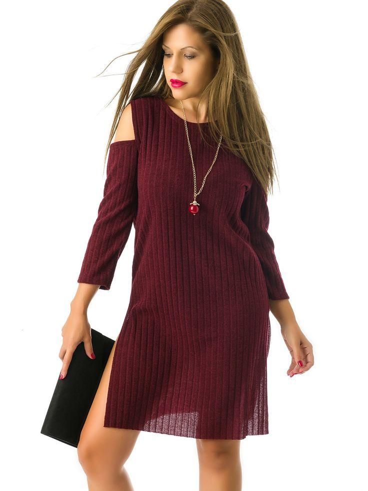 Vestidos Jerseys Burdeos MS1739