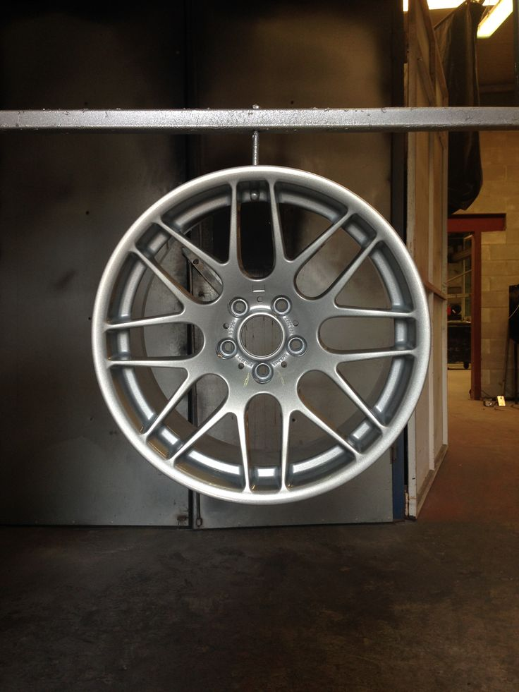 BMW wheels done in silver by donegalpowdercoating