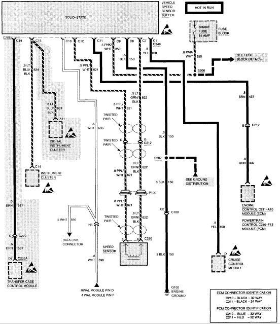 Vehicle Speed Sensor Buffer | olds bravada drawings | Chevy 1500, Diagram, 2005 chevy silverado