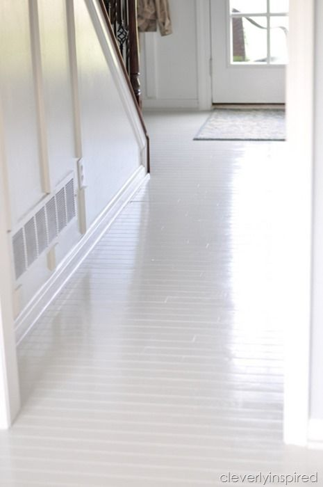 25 best ideas about white painted floors on pinterest for Best paint for wooden floors