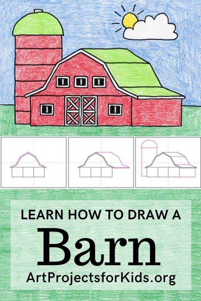 Draw A Barn In 2020 Barn Art Kids Art Projects Art Projects