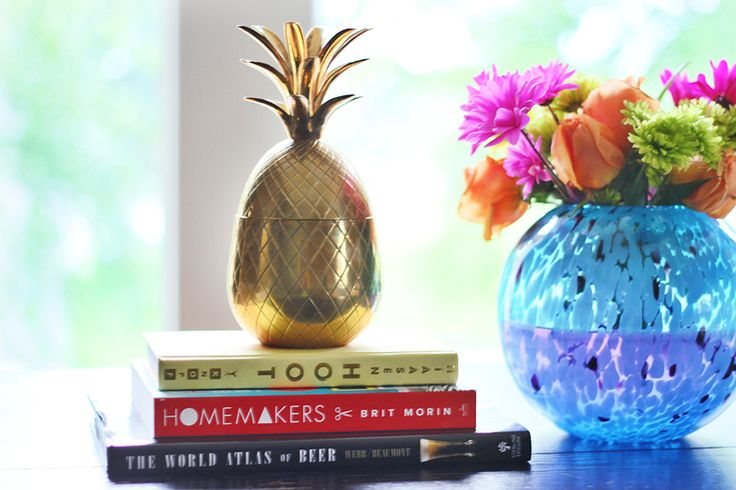 Gold Pineapple Stock Image
