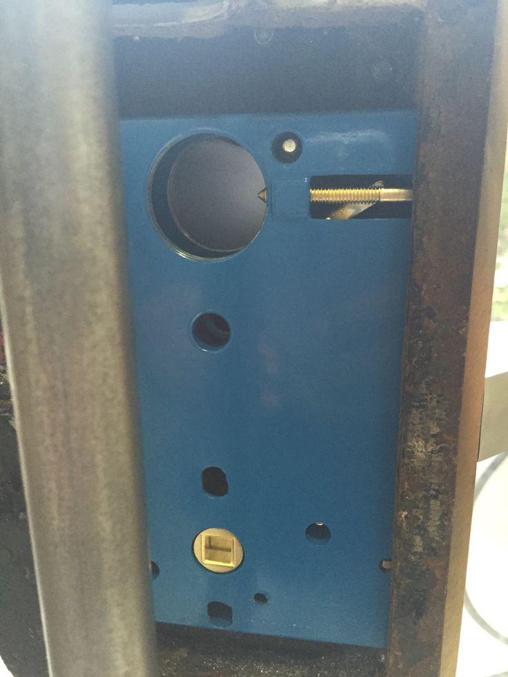 Installing Mortis Lock on front Gate door