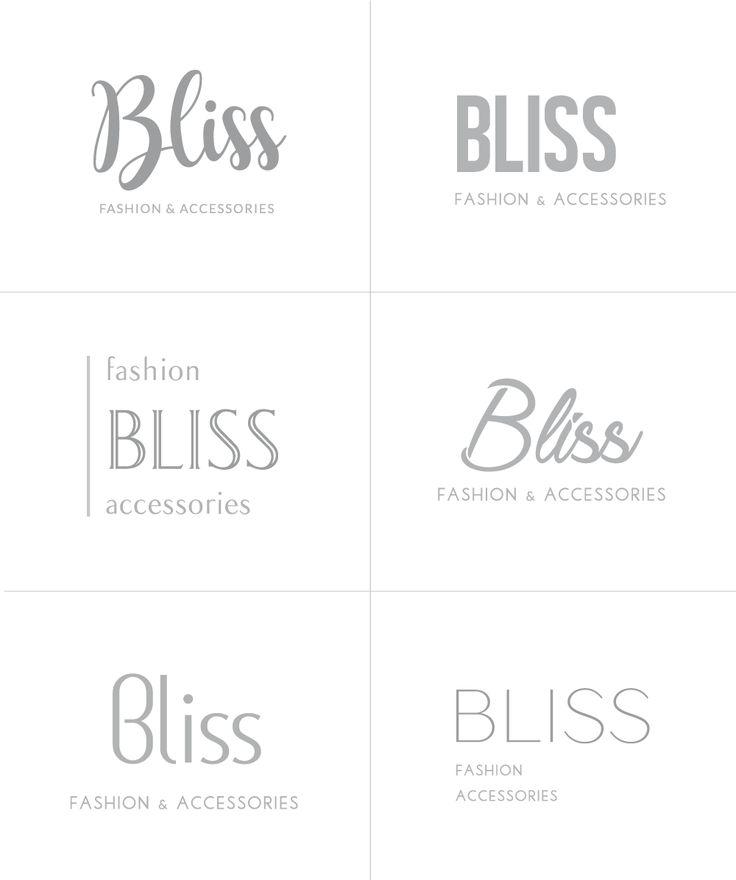 #corporate #idenity #logo #design Bliss fashion&accessories Loghi settore moda e fashion design