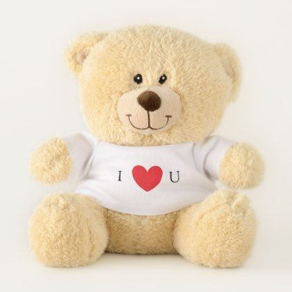 I Love You Teddy Bear Gift For Girls - baby gifts child new born gift idea diy cyo special unique design