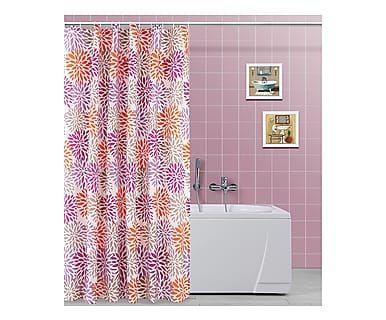 Tenda doccia in poliestere rosso/viola, 200x180 cm