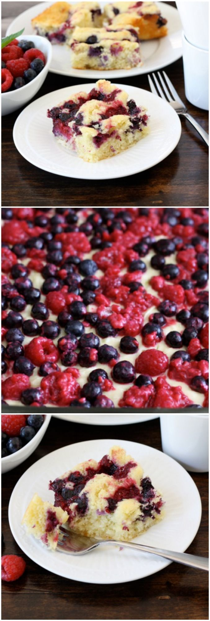 Coconut Lime Berry Cake Recipe on twopeasandtheirpod.com Love this cake! Perfect for summertime! #coconut #berry #cake