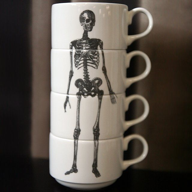 How about skeleton mugs? Halloween feelings