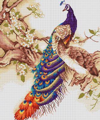 Peacocks Cross Stitch Kit By Luca S