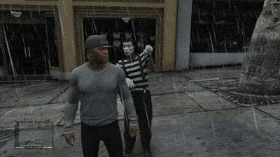 """Karate chop a mime artist in the face. 