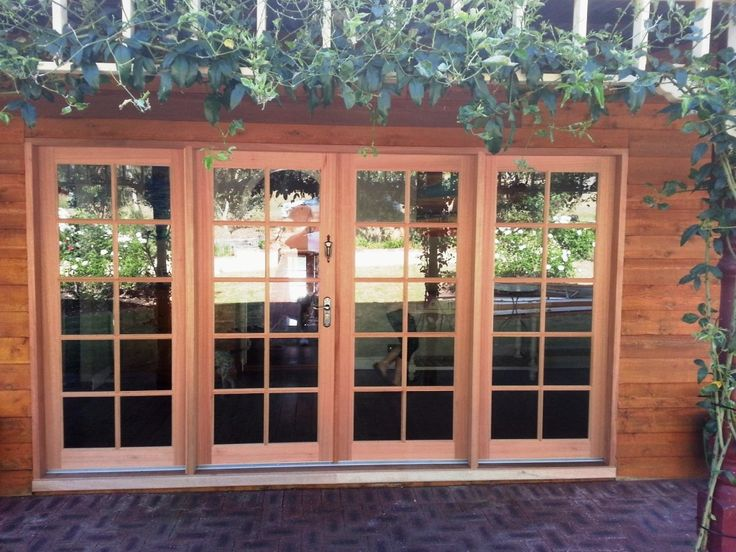 Solid hardwood timber French doors, Perth
