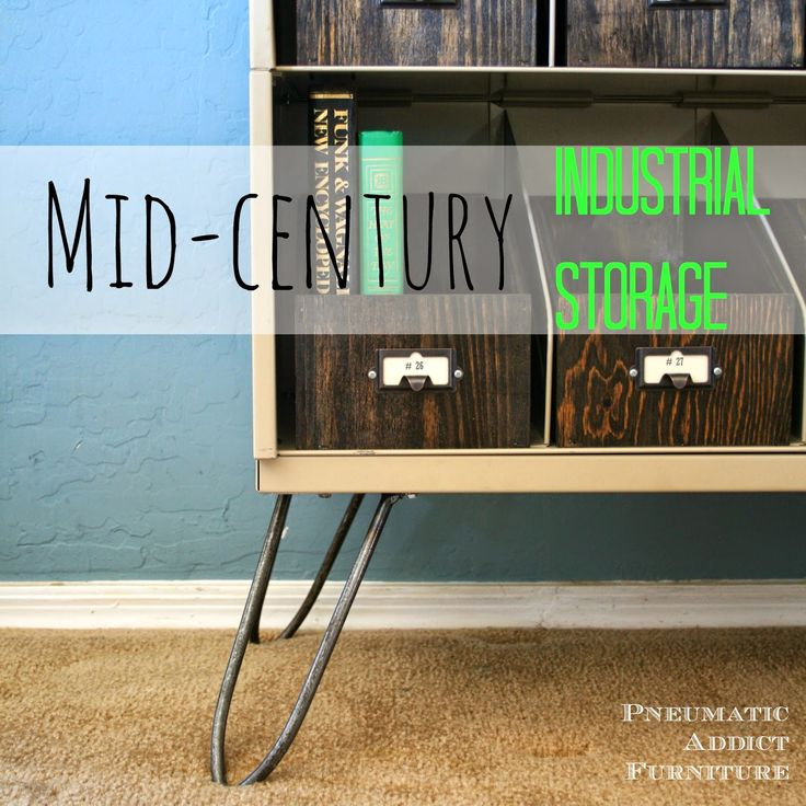 Pneumatic Addict Furniture: Mid-Century Industrial Storage