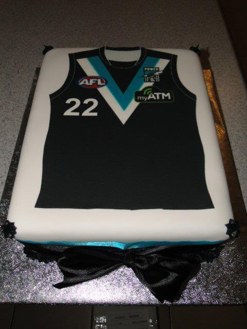 port power football team top cake creative cakes pinterest on birthday cake in adelaide