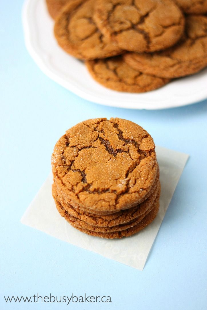 Sweet, soft, and chewy ginger molasses cookies just like the ones from Starbucks, but better!