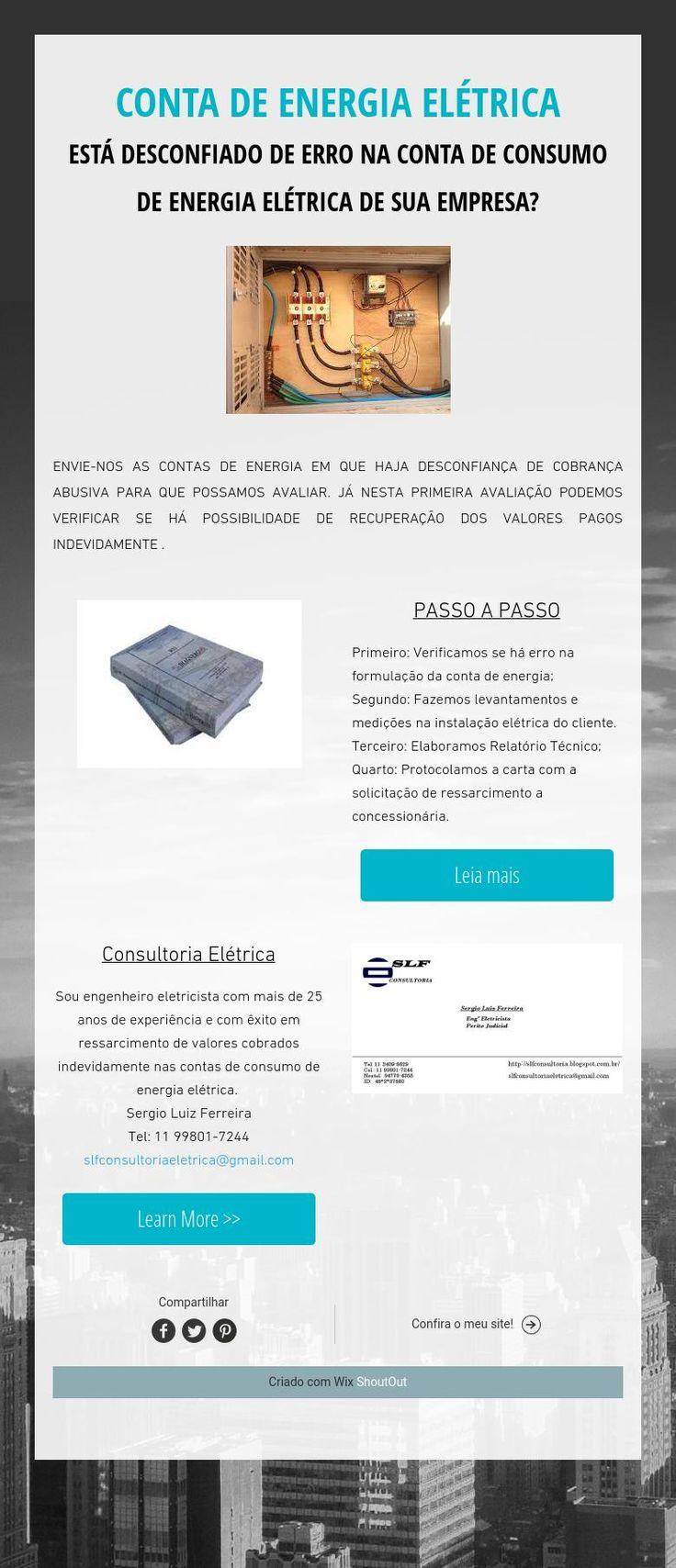 CONTA DE ENERGIA ELÉTRICA ESTÁ DESCONFIADO DE ERRO NA CONTA DECONSUMO DE ENERGIA ELÉTRICA DE SUA EMPRESA?
