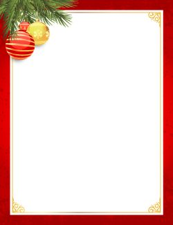 Red and Gold Christmas Border