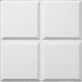 Cascade Patterned White 2' x 2' Panel #1270 Sound absorbing