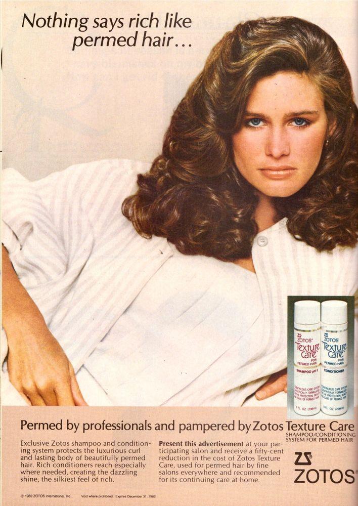 1982 Zotos Shampoo Hair Care Juli Foster Print Advertisement Ad Vintage VTG 80s | eBay