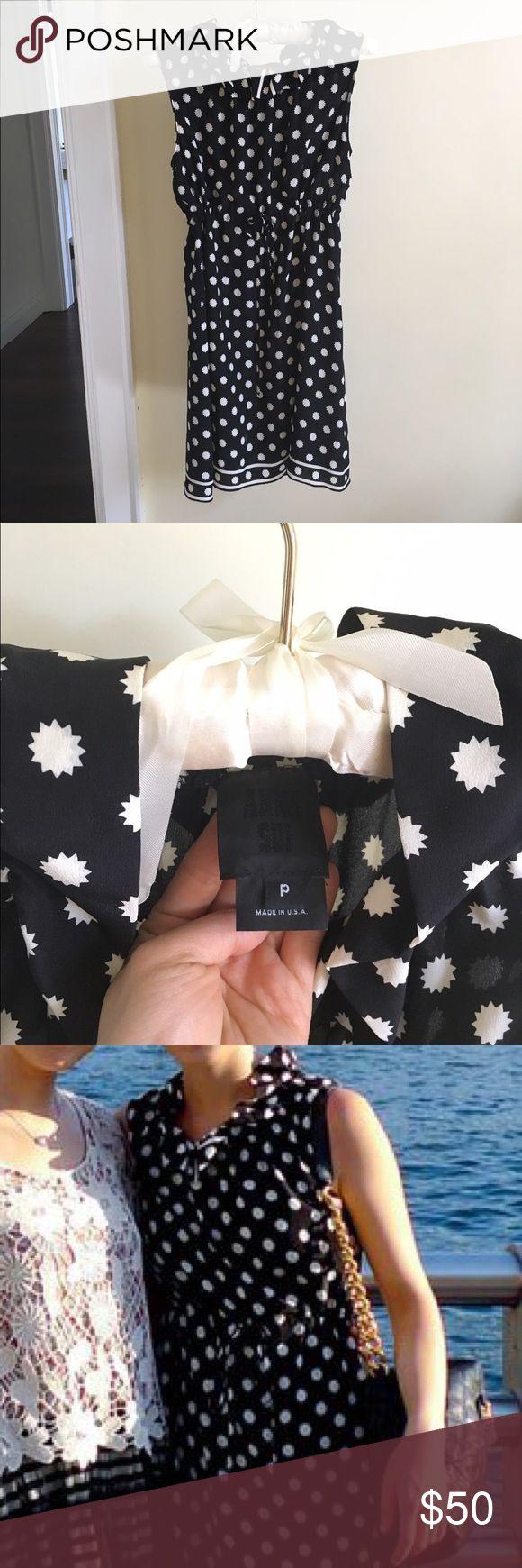 Anna Sui Dot Silk Dress Anna Sui Silk Dot Dress; very flattering style; above knee length Anna Sui Dresses