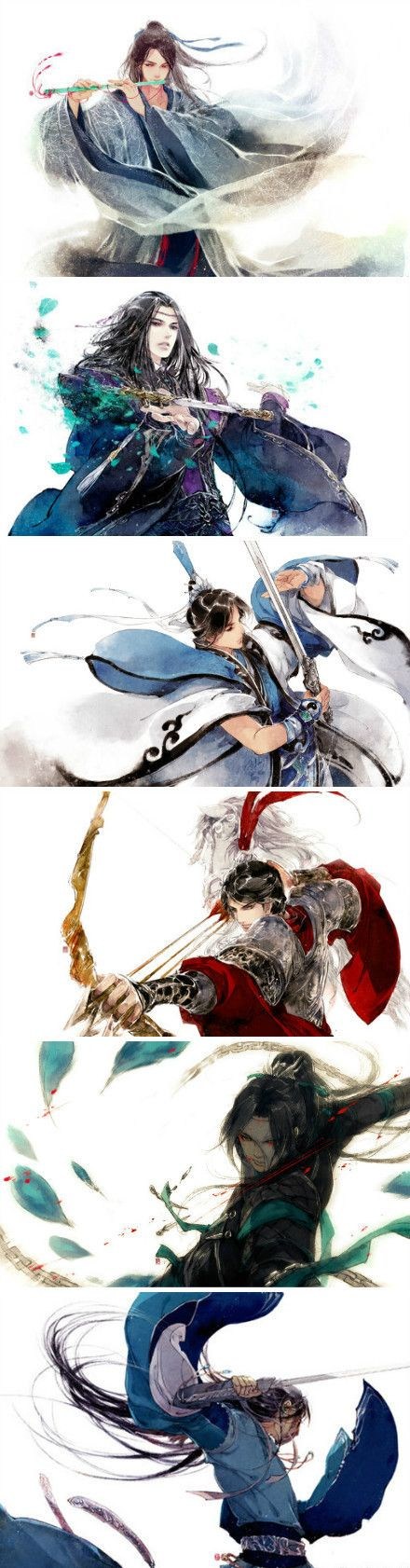 Warriors / Weapon Armor Cloak Dress Hair Character Gloves