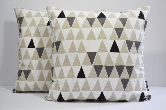Swedish Scandinavian Geometric fabric modern cushion cover - Jaffa Natural