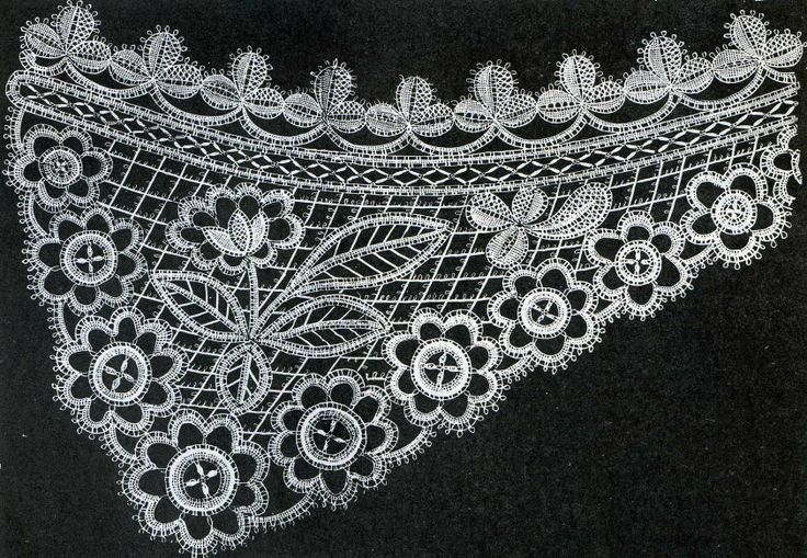 Honiton lace open fibre design.
