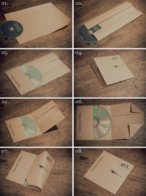 DIY CD/DVD covers: Cd Sleeve, Gifts Ideas, Rocks My Wedding, Cd Holders, Cd Covers, One Pieces, Cd Cases, Life Hacks, Places Sets