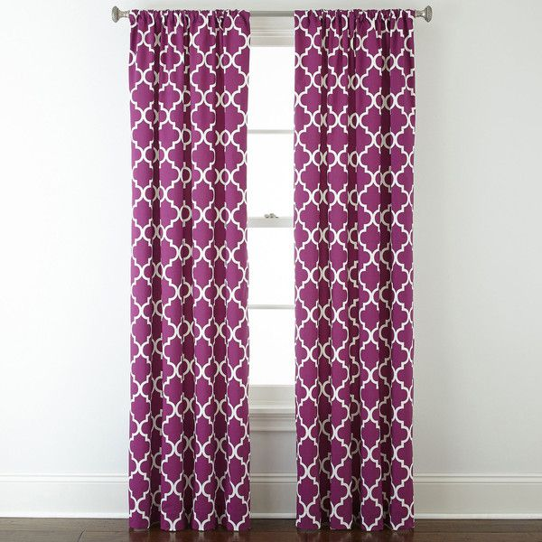 Home Expressions™ Thermal Trellis Rod-Pocket Curtain Panel ($18) ❤ liked on Polyvore featuring home, home decor, window treatments, curtains, thermal window coverings, thermal curtains, trellis pattern curtains, winter curtains and thermal draperies