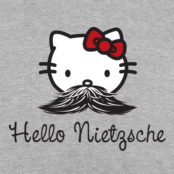 Hello Nietzsche T-shirt :: Unemployed Philosophers Guild
