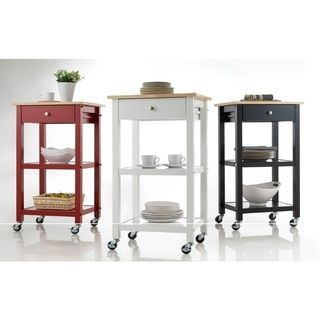 Shop for  Wood Kitchen Cart on Wheels and more for everyday discount prices at Overstock.com - Your Online Kitchen