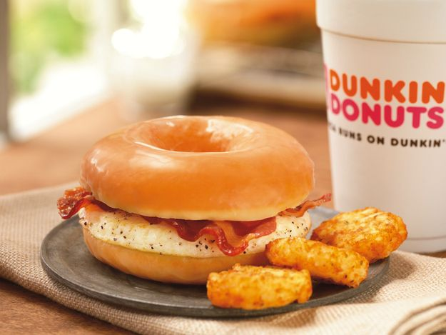 Glazed Donut Breakfast Sandwich from Dunkin' Donuts | 22 American Fast Foods That Aren't About To Apologize For Anything