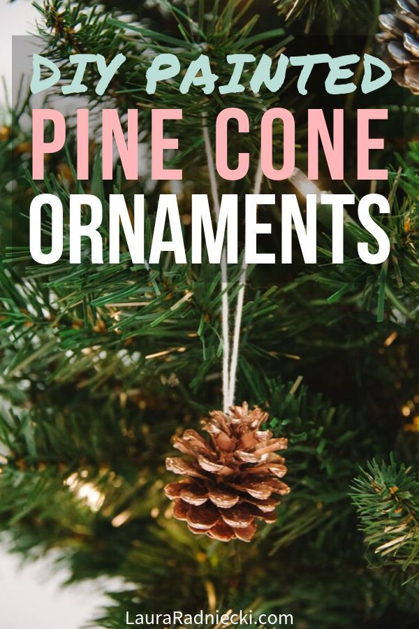How To Make Spray Painted Diy Pine Cone Christmas Ornaments Diy Spray Paint Pine Cone Crafts Christmas Ornaments