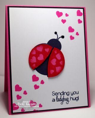 """Hearts - """"Sending you a ladybug hug."""""""
