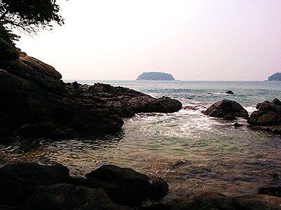 At the south end of Kata beach.
