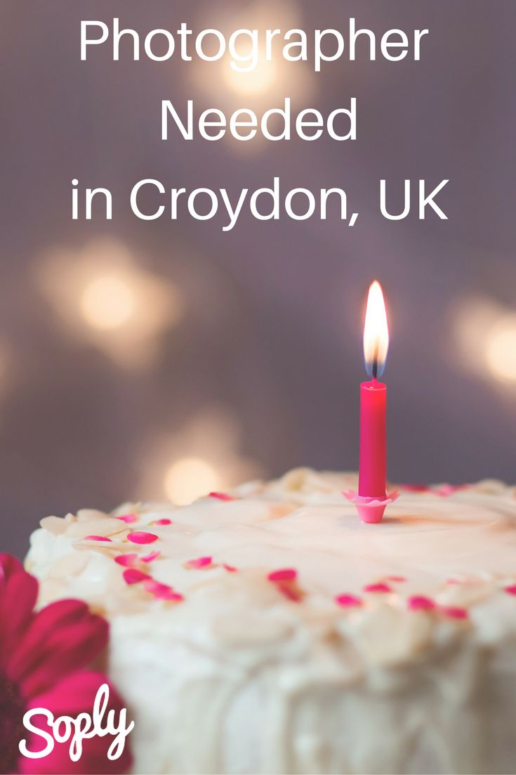 Photographer needed for a 60th birthday party in Croydon, UK. The #party is on May 6th, 2017. See the photography job and apply by clicking the pin!
