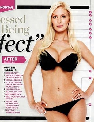 The Plastification of America...Maybe I could have this body. If I had TEN plastic surgeries, too! Never.